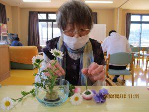春の生花をやってみた!